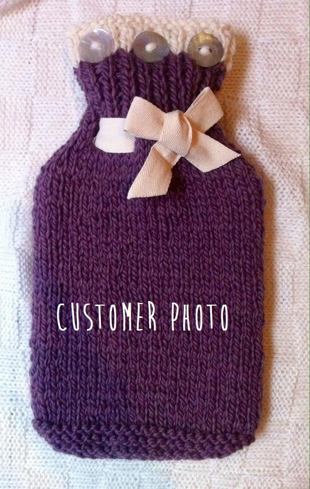 Knitting Kits For Beginners Uk : Beginner s learn knitting kit hot water bottle cover